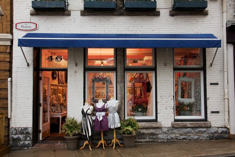 Shop on Rue Garneau. Quebec City, Canada.