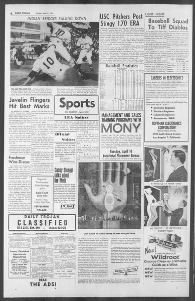 Daily Trojan, Vol. 53, No. 102, April 03, 1962