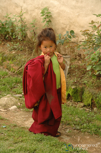 Walking Home from School - Lake Khecheopalri, Sikkim