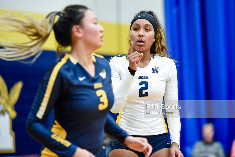 TORONTO, CANADA - Dec 28: during 2018 Humber Classic Women's Volleyball Invitational Match between Humber Hawks and York Lions at Humber Hawks Athletics Gym. Photo: Michael Fayehun/F10 Sports Photography