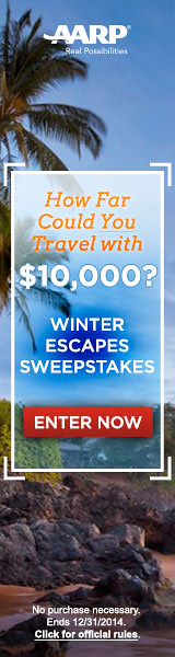 Click to enter the AARP Winter Escapes Sweepstakes