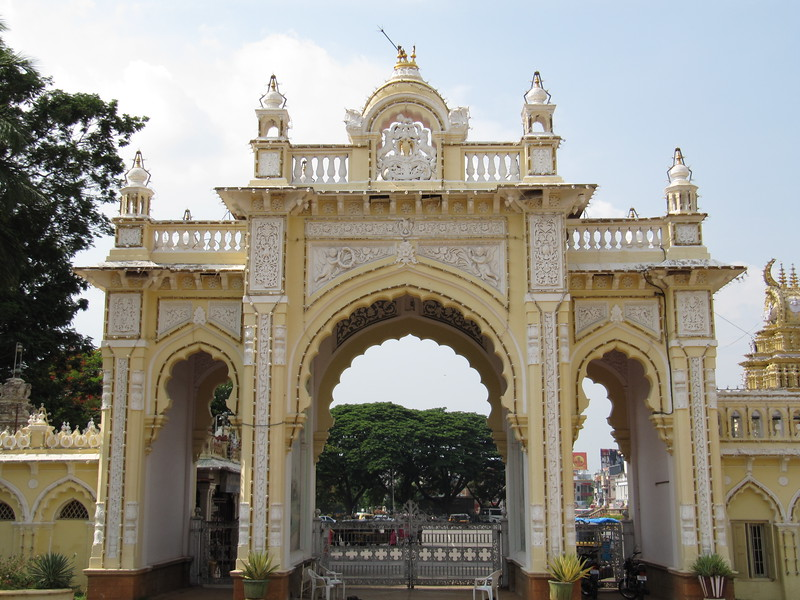 Gates at Mysore Palace