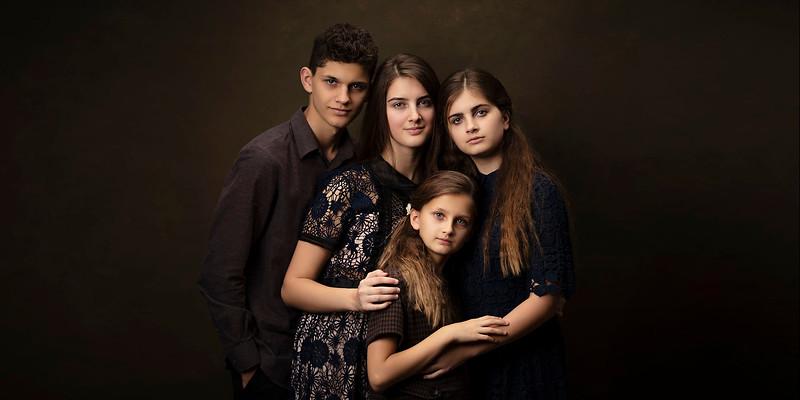 Sacramento family photographer during studio  portrait session. Family pictures in Bidun Studio Photography