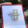 2.40ctw Art Deco Old European Cut Diamond Geometric Dinner Ring 17