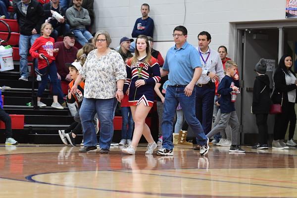Cheer at Varsity Basketball vs Skutt