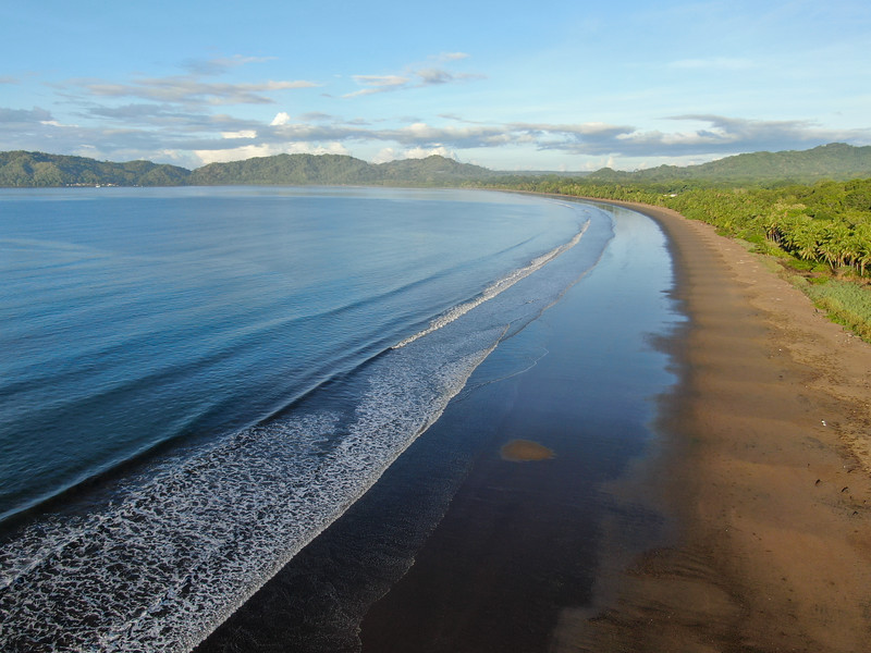 Empty tropical paradise beach in Tambor, Costa Rica