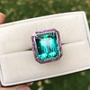 11.77ct Tourmaline Halo Ring by Leon Mege, AGL Cert 14