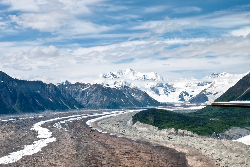 Lateral and Medial Moraines Wrangell St Elias ALaska