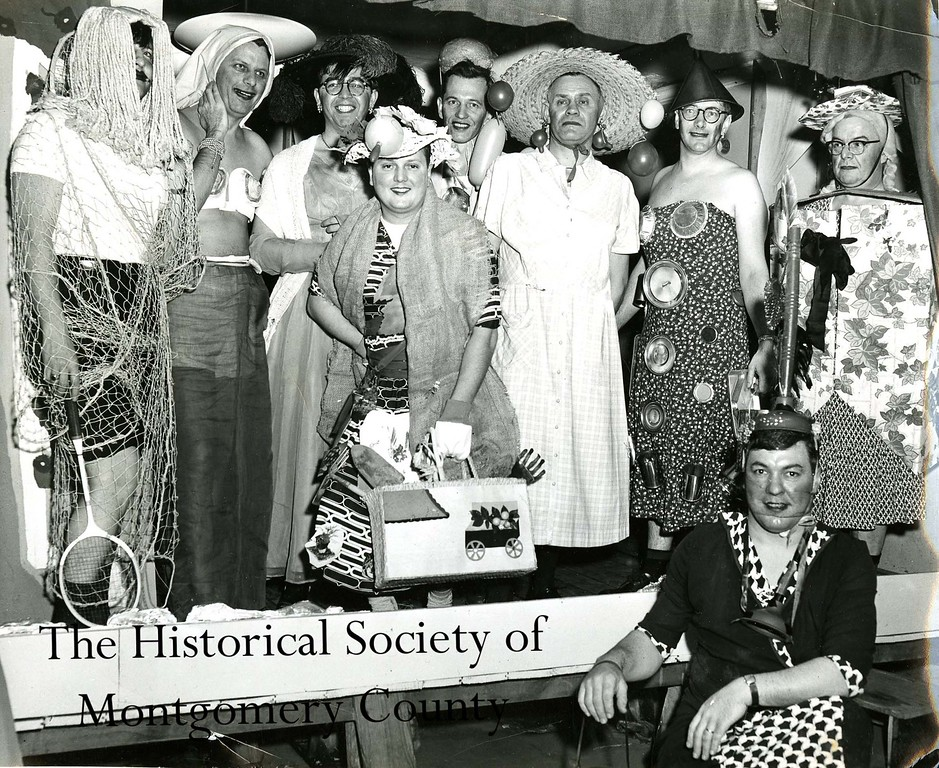 ". This undated photo from the Historical Society of Montgomery County is from the ""Conshohocken Spring Mill Fathers\' Nite.\"""