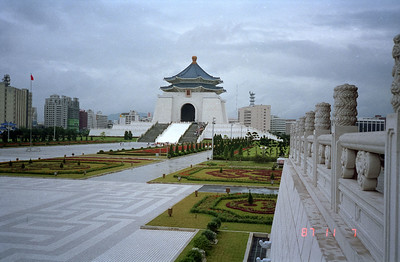 Chang Kai Shek Memorial in Taipei, Taiwan ROC.  Quite an impressive building for this popular past president of Taiwan.