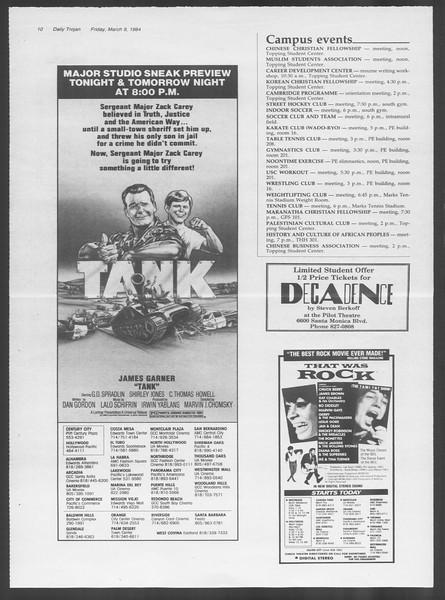 Daily Trojan, Vol. 95, No. 42, March 09, 1984