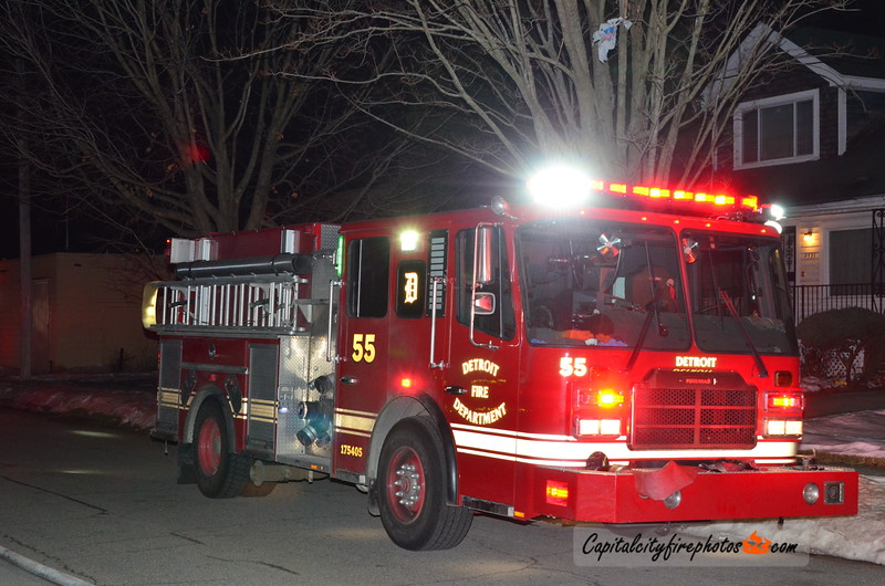 2/17/18 - 9526 Littlefield St - 2122 hours – Engines 42, 34, 55, Ladder 27, Squad 4, Chief 2. Engine 42 on scene investigating then advised they would be stretching. Chief 2 had fire in a story and half occupied dwelling.