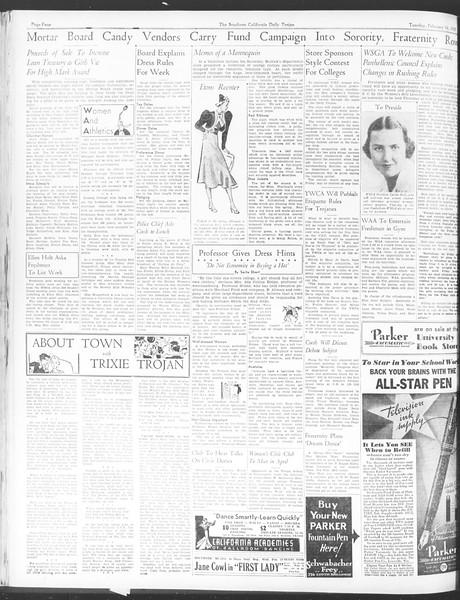 Daily Trojan, Vol. 28, No. 80, February 16, 1937