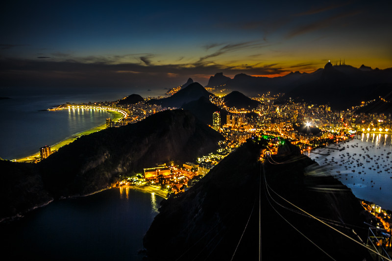Fascinating night view captured from amazing Sugar Loaf.