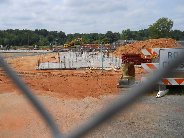 As the walls go up - August 26, 2011