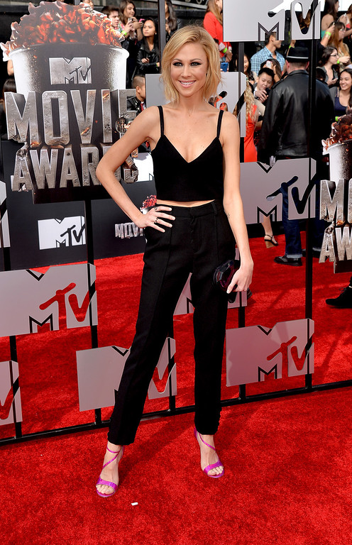 . Actress Desi Lydic attends the 2014 MTV Movie Awards at Nokia Theatre L.A. Live on April 13, 2014 in Los Angeles, California.  (Photo by Michael Buckner/Getty Images)