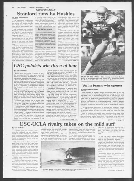 Daily Trojan, Vol. 92, No. 40, November 02, 1982