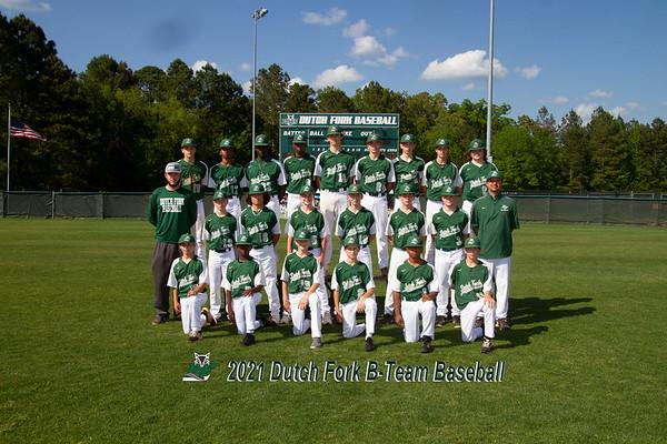 2021 B Team baseball