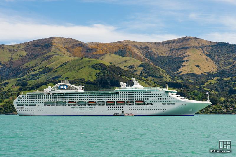Sea Princess in Akaroa Harbour
