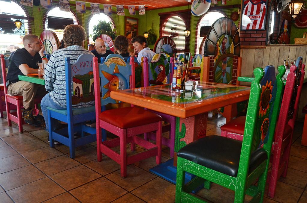 . At El Mazatlan in Mankato, a vibrant color scheme decorates the interior. (Pioneer Press: C.J. Sinner)