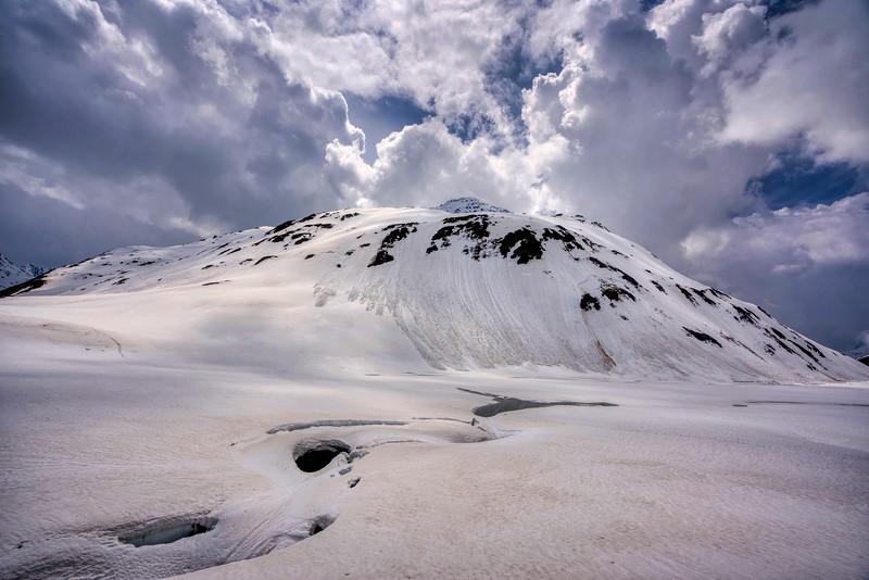 Oberalppass on Glacier Express in Switzerland
