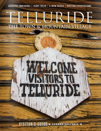 2012 summer Telluride Visitor Guide cover