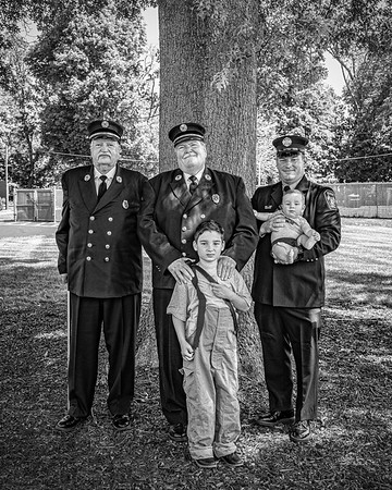 The Fisch and Scofield Firefighter Family Portraits