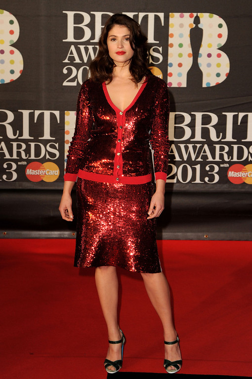 . Gemma Arterton attends the Brit Awards 2013 at the 02 Arena on February 20, 2013 in London, England.  (Photo by Eamonn McCormack/Getty Images)