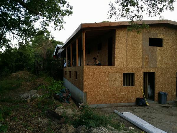 Indoor studio and adjacent deck spaces