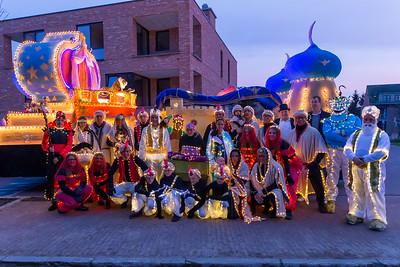 Lichtstoet en Sinterklaas 2019 - Opstellen lichtstoet