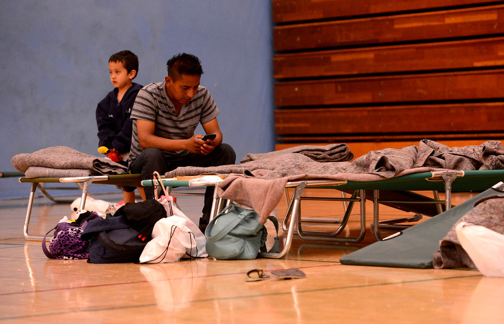 . Burned out residents stay at the Red Cross Shelter set up at the San Gorgonio High School in San Bernardino May 13, 2013.   GABRIEL LUIS ACOSTA/STAFF PHOTOGRAPHER.