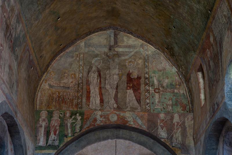 Lavaudieu Abbey of Saint Andrew Crucifixion Fresco