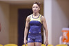 MORGANTOWN, WV - MARCH 8: A  West Virginia University prepares for a practice pass on the vault during a dual meet March 8, 2015 in Morgantown, WV.