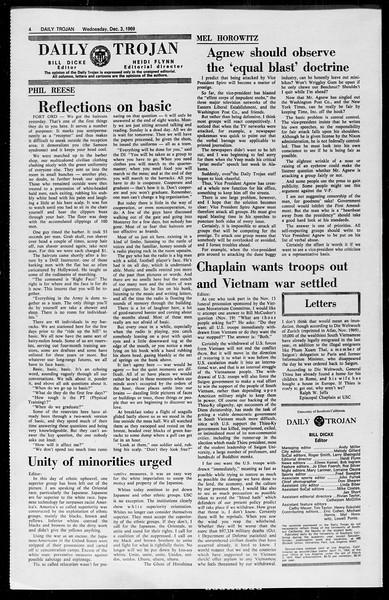 Daily Trojan, Vol. 61, No. 53, December 03, 1969