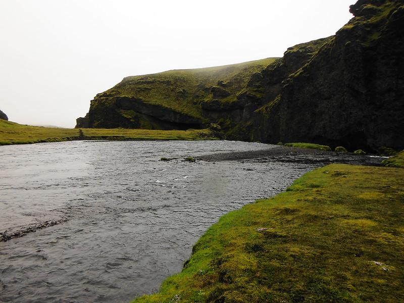 Syðri-Ófæra eftir að við óðum hana.