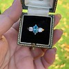1.73ctw Blue Marquise Cut Diamond Trilogy Ring 24