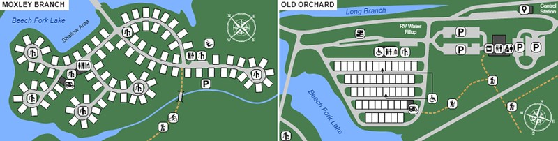 Beech Fork State Park (Moxley Branch & Old Orchard Campgrounds)