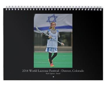 Kyle Lipton - Israel Masters Lacrosse - 2015 Customized Calendar #1