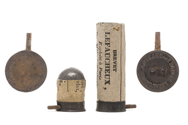Some of the earliest Casimir Lefaucheux pinfire cartridges