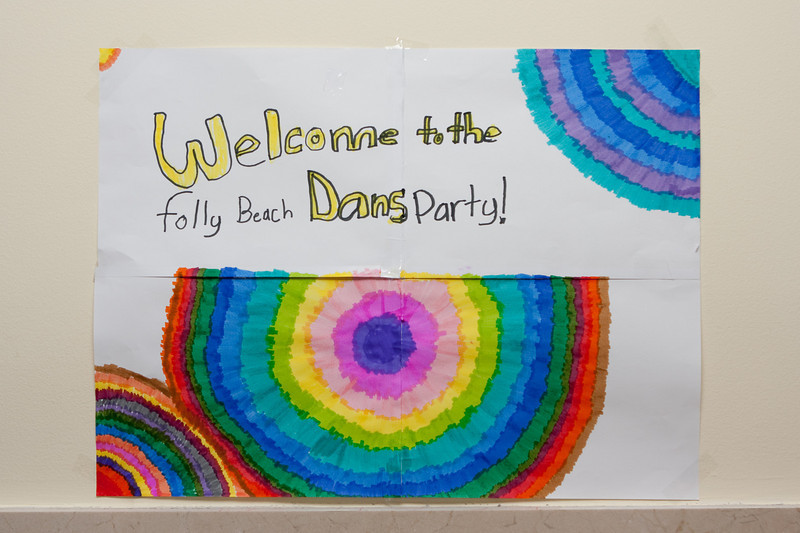 Welcome to the folly beach Dans [sic] party!