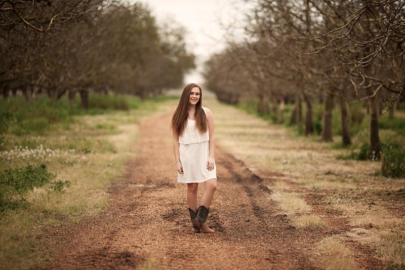 Tori- Grandfather's Walnut Orchard - Senior Photography- Linden - California