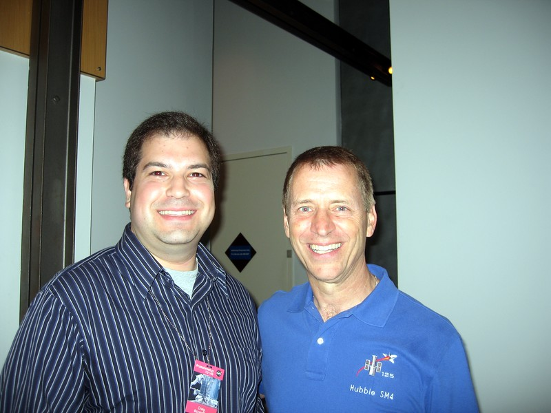 Craig with STS-125 Pilot Greg Johnson