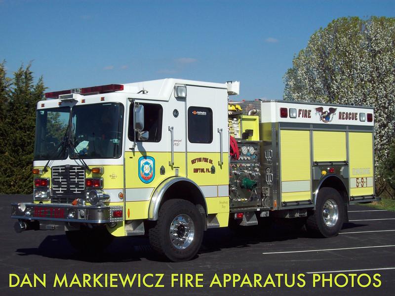REFTON FIRE CO. ENGINE 5-9-1 2003 HME/AHERNS FOX PUMPER/RESCUE