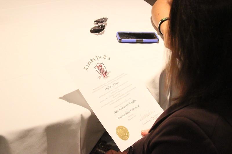 2017 Lambda Pi Eta Induction Ceremony