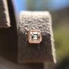 .52ctw Asscher Cut Diamond Bezel Stud Earrings, 18kt Rose Gold 7