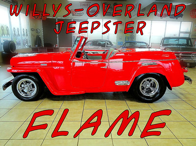 1949 WILLYS JEEPSTER,  FLAME
