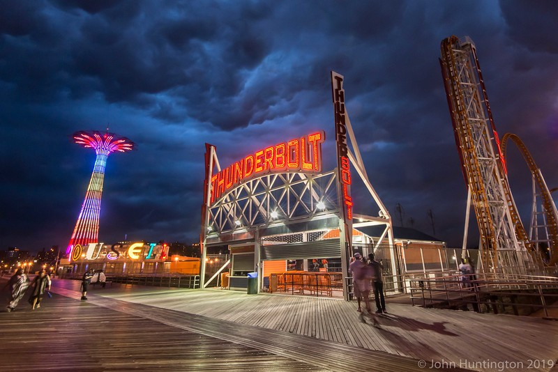 Thunderstorm approaching Coney Island, Brooklyn