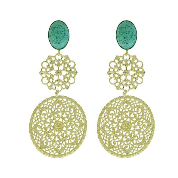 Maxine Earrings / Light Turquoise