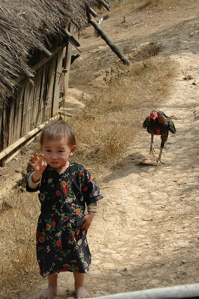 Hmong Child in Village - Luang Prabang, Laos