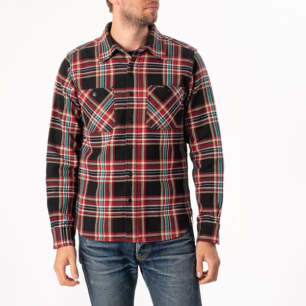 Black Crazy Check Ultra Heavy Flannel Work Shirt-3904.jpg